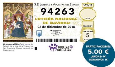 Participaciones Loteria Navidad en papel