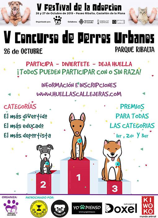 Cartel V Concurso de Perros Urbanos 2019